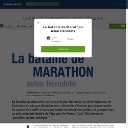 La bataille de Marathon selon Hérodote