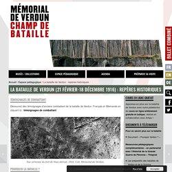 La bataille de Verdun : repères historiques