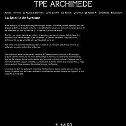 La Bataille de Syracuse - TPE Archimède