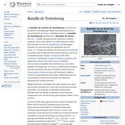Bataille de Teutobourg - VARUS