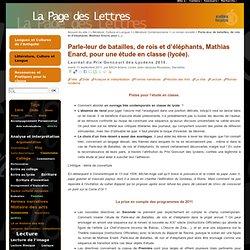 Parle-leur de batailles, de rois et d'éléphants, Mathias Enard, Actes Sud, 2010.