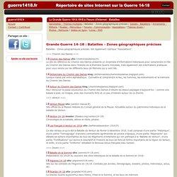 14-18 : Répertoires des sites sur la grande guerre