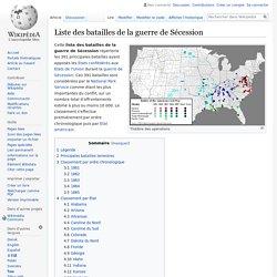 Liste des batailles de la guerre de Sécession