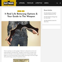 11 Real Life Batarang Options & Your Guide to The Weapon