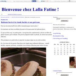 Batbouts farcis à la viande hachée et aux poivrons - Bienvenue chez Lalla Fatine !