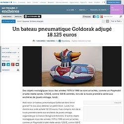 Un bateau pneumatique Goldorak adjugé 18.125euros