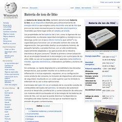 Batería de ion de litio