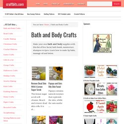 Bath and Body Crafts — craftbits.com