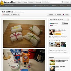 Bath Salt Bars