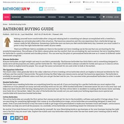 Bathrobe Buying Guide