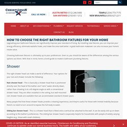 HOW TO CHOOSE THE RIGHT BATHROOM FIXTURES FOR YOUR HOME