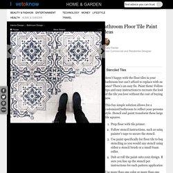 Bathroom Floor Tile Paint Ideas [Slideshow]