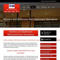 Kitchen and Bathroom Refurbishment Hermanus
