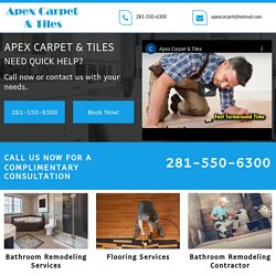 Apex Carpet & Tiles, Bathroom remodeling company Katy TX