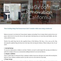 Bathroom Renovation California