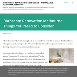 Bathroom Renovation Melbourne: Things You Need to Consider