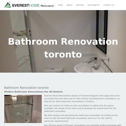 Custom Bathroom renovation Toronto - Everest Home Renovation