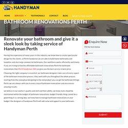 Bathroom Fitting Services Perth, Bathroom Renovations Perth