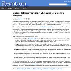 Modern Bathroom Vanities in Melbourne for a Modern Bathroom