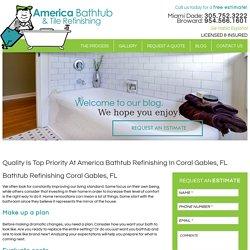Bathtub Refinishing Coral Gables, FL