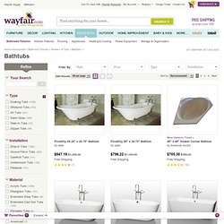 Bathtubs & Whirlpools | Wayfair - Bathtub, Tubs