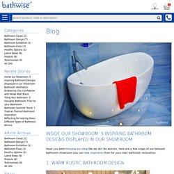 Bathwise Ltd - Inside our Showroom: 5 Inspiring Bathroom Designs Displayed in our Showroom