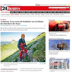 Via ferrata: A 89ans, il ne cesse de batifoler sur la falaise des Rochers-de-Naye - News Vaud & Régions: Riviera - Chablais