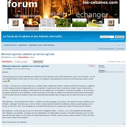 Forum de discussion habitat alternatif
