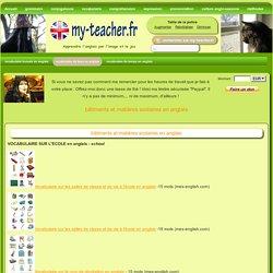 bâtiments et matières scolaires en anglais