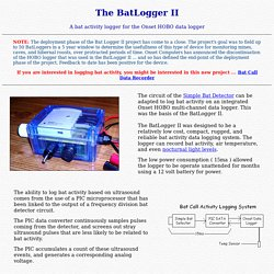 The BatLogger II - an Ultrasound Bat Activity Logger