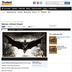 Batman: Arkham Knight preview