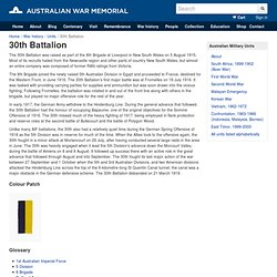 30th Battalion: Australian War Memorial