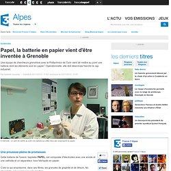 Papel, la batterie en papier vient d'être inventée à Grenoble
