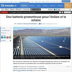 Une batterie prometteuse pour l'éolien et le solaire