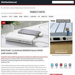 La batterie ROMOSS Sense 10400 mAh tombe à 25€