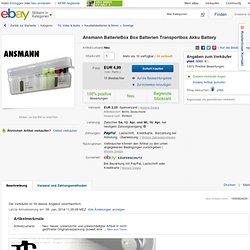 Ansmann BatterieBox Box Batterien Transportbox Akku Battery