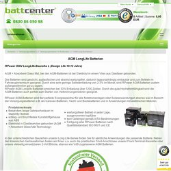 AGM LongLife Batterien - battcenter24