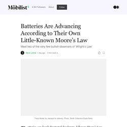 Batteries Are Advancing According to Their Own Little-Known Moore's Law