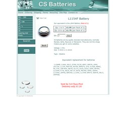 L1154F, Batteries and Battery Replacements