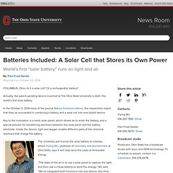 Batteries Included: A Solar Cell that Stores its Own Power