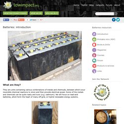 Batteries - Lowimpact.orgLow impact living info, training, products & services