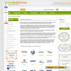 Liste des batteries et chargeurs pour ordinateurs - Speed Batteries