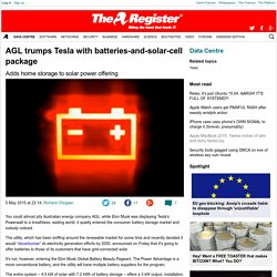 AGL trumps Tesla with batteries-and-solar-cell package