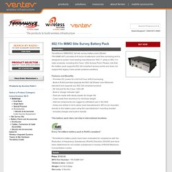Battery Packs and Accessories - 802.11n MIMO Site Survey Battery Pack