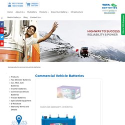TATA Green Batteries for Commercial Vehicle