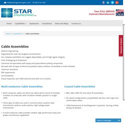 Diverse Range of Cable Assemblies - Star Engineering