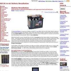 Battery Desulfation - Storage