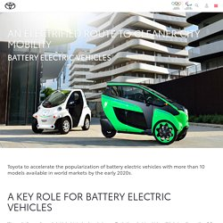 Toyota and battery electric vehicles