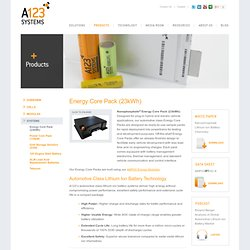 Energy Battery Pack for Plug-in and Electric Vehicles - A123 Systems