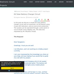 6V Solar Battery Charger Circuit - Electronic Circuit Projects